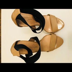 Jessica Simpson High Heel Sandal Black Strap 8